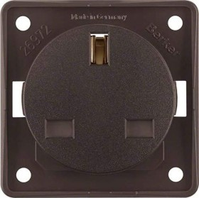 Berker Integro FLOW Steckdose British Standard, braun matt (962622501)