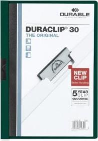 Durable Duraclip 30 Klemm-Mappe A4, dunkelgrün, 25er-Pack (220032#25)