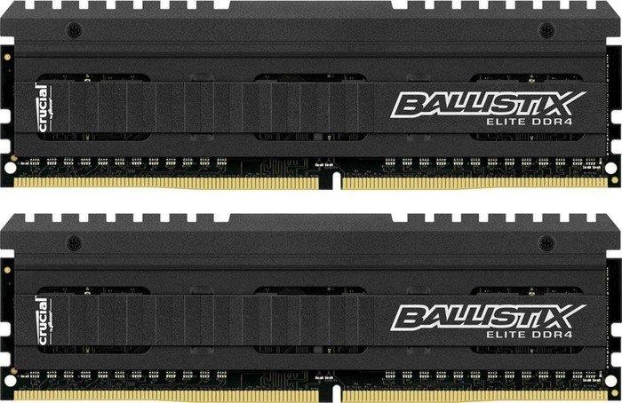 Crucial Ballistix Elite DIMM Kit 16GB, DDR4-3000, CL15-16-16 (BLE2C8G4D30AEEA/BLE2K8G4D30AEEA)
