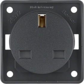 Berker Integro FLOW Steckdose British Standard, anthrazit matt (962622505)