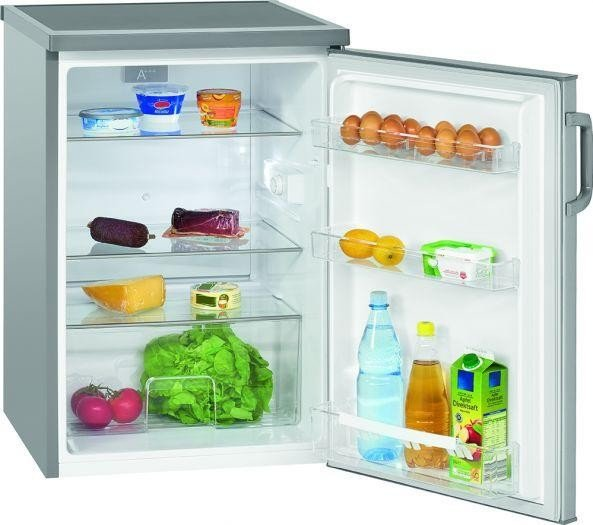 BOMANN Vollraumkühlschrank VS 2195 inox-look A++ 134L Abtauautomatik Kühler