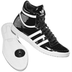 adidas top ten hi sleek schwarz lack