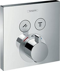 Hansgrohe ShowerSelect thermostat with 2 valves chrome (15763000)