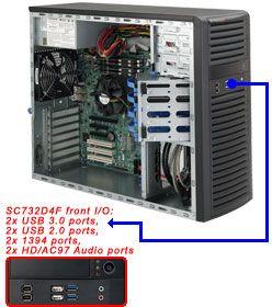 Supermicro 732D4F-500B schwarz, 4HE, 500W