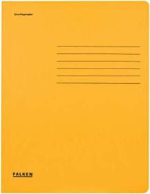 Falken Dreiflügelmappe Karton A4, gelb (80001381001)