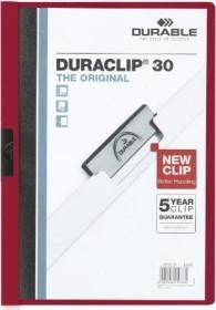 Durable Duraclip 30 Klemm-Mappe A4, dunkelrot, 25er-Pack (220031#25)