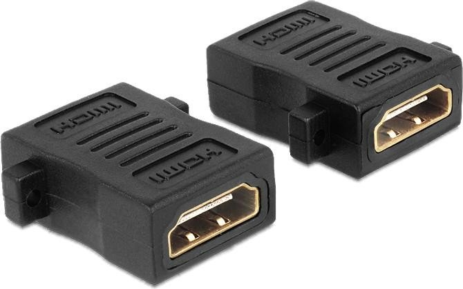 DeLOCK HDMI Adapter, Buchse/Buchse, mit Schraubanschluss (65509)