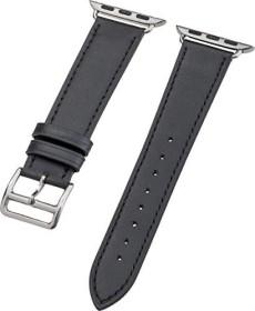 Peter Jäckel Watch Band Leather für Apple Watch (38mm/40mm) schwarz (17263)