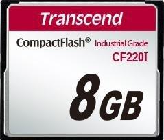 Transcend R39/W42 CompactFlash Card [CF] Industrial CF220I 8GB (TS8GCF220I)