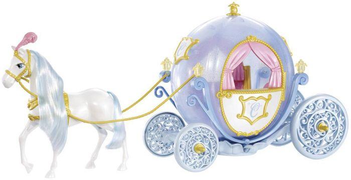 mattel barbie cinderella kutsche und pferd w2817. Black Bedroom Furniture Sets. Home Design Ideas