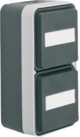 Berker W.1 socket SCHUKO 2-way vertical, grey/light grey (47703535)