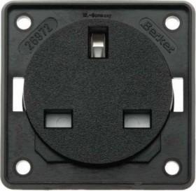 Berker Integro FLOW Steckdose British Standard, schwarz matt (9626205)