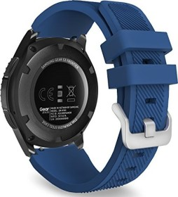 MoKo Silikonarmband für Samsung Galaxy Watch 46mm marineblau