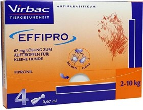 Virbac EFFIPRO Spot-on antiparasitic agent for small dogs, 63mg