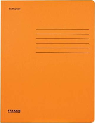 DIN A4 Manila-RC-Karton orange FALKEN Sammelmappe
