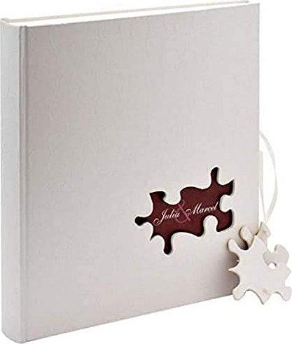 Bild Walther Design Buch Fotoalbum Hochzeit Puzzle 31x29 weiß (UH-173)