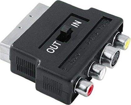 Hama Profi SCART/S-VHS + Composite Video & Audio Adapter schwarz (42357) -- via Amazon Partnerprogramm