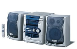 Aiwa NSX-SZ305 with 3-way CD, tuner, Double Tape