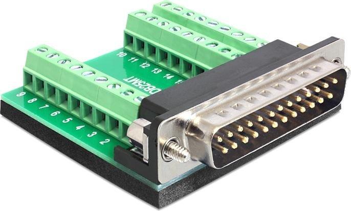 DeLOCK Sub-D 25-Pin [Stecker] auf 27-Pin-Terminalblock Adapter (65318)