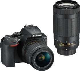 Nikon D5600 schwarz mit Objektiv AF-P VR DX 18-55mm und VR DX AF-P 70-300mm (VBA500K004)