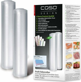 CASO 1223 Vakuum-Folienrollen 27,5 x 600 cm 2 Rollen NEU!!