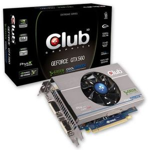 Club 3D GeForce GTX 560 Green Edition, 1GB GDDR5, 2x DVI, mini HDMI (CGNX-X56024G)