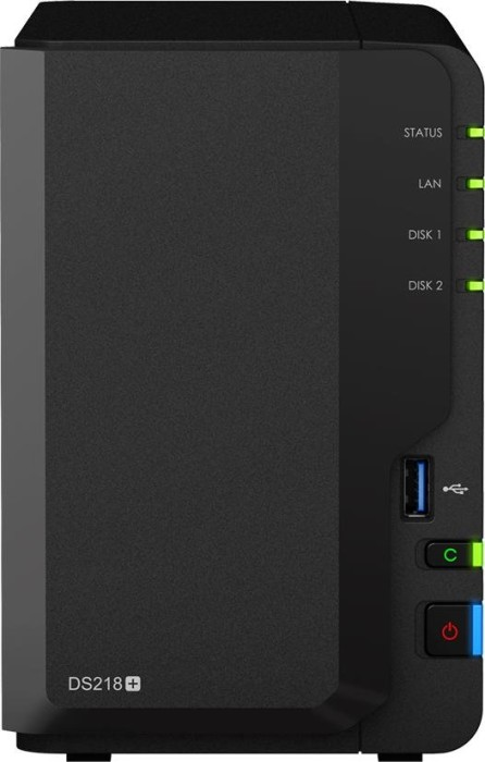 Synology Diskstation DS218+ 8TB, 2GB RAM, 1x Gb LAN