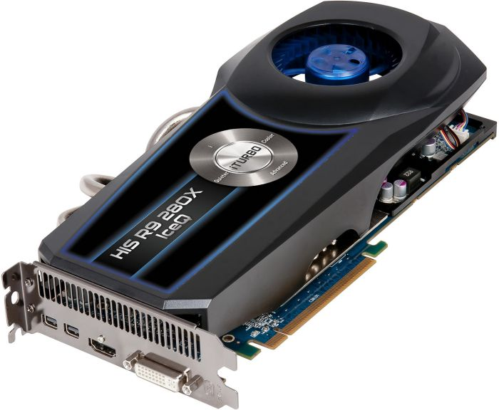 HIS Radeon R9 280X IceQ Boost Clock, 3GB GDDR5, DVI, HDMI, 2x Mini DisplayPort (H280XQS3G2M)