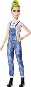 Mattel Barbie Fashionistas im Latzhosenoutfit mit grüner Haarsträhne Petite (FXL57)