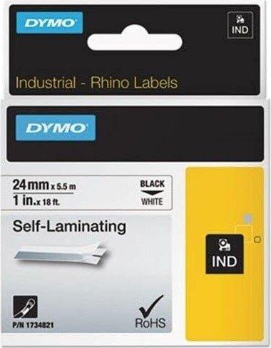 Dymo Rhino Industrial selbstlaminierend 24mm schwarz/weiß (S0773860) -- via Amazon Partnerprogramm