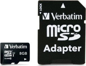 Verbatim microSDHC 8GB kit, Class 10 (44081)