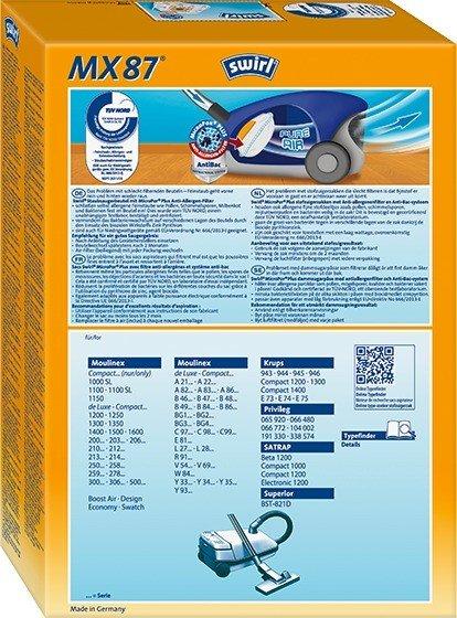 D126 Vlies-Staubbeutel oder Swirl MX87 Originalstaubbeutel
