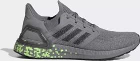 adidas Ultra Boost 20 grey three/core black/signal green (Herren) (EG0705)