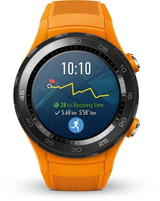 Huawei Watch 2 4G mit Sportarmband orange (55021665/55021808)
