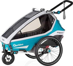 Qeridoo Kidgoo1 Fahrradanhänger petrol Modell 2020 (Q8-20-P)