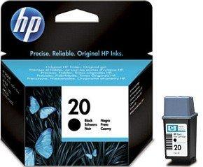 HP 20 głowica drukująca z tuszem czarnym 28ml (C6614DE)