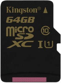 Kingston R90/W45 microSDXC 64GB, UHS-I, Class 10 (SDCA10/64GBSP)