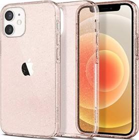 Spigen Liquid Crystal Glitter für Apple iPhone 12 Mini rose quartz (ACS01742)