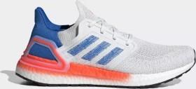 adidas Ultra Boost 20 crystal white/glow blue/solar red (Herren) (EG0708)