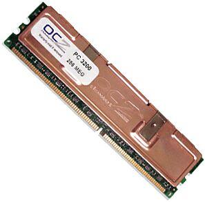 OCZ DIMM 256MB, DDR-400, CL2-3-3-2T