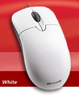 Microsoft Basic Optical Mouse weiß, PS/2 & USB (P58-00002/P58-00029)