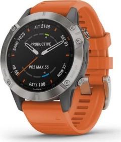 Garmin Fenix 6 Saphir titanium/ember orange (010-02158-14)