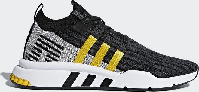 brand new fcc61 0529f adidas EQT support mid ADV Primeknit core blackeqt yellowftwr white (men