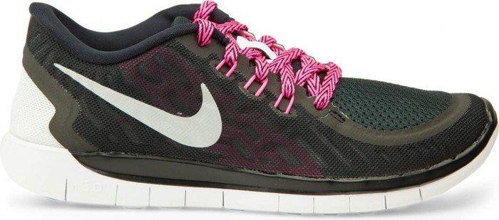 new concept 8aed6 c37fd Nike Free 5.0 black vivid pink pink pow metallic silver (Junior)