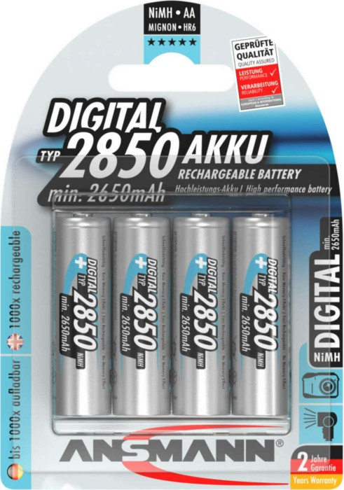 Ansmann Mignon AA NiMH Akku 2850mAh, 4er-Pack (5035092) -- provided by bepixelung.org - see http://www.bepixelung.org/1108 for copyright and usage information