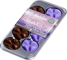 Bolsius Aromatic Wax Melts Relax & Rewind Duftwachs-Variation, 8 Stück