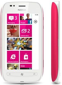 Nokia Lumia 710 white red