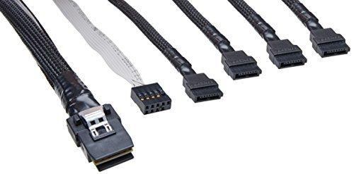 Adaptec mini SAS x4 (SFF-8087) auf 4x SATA (SFF-8448) Kabel, 1m (2247100-R) -- via Amazon Partnerprogramm