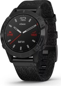 Garmin Fenix 6 Saphir black dlc/heathered red nylon (010-02158-17)