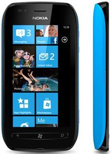 Nokia Lumia 710 schwarz blau